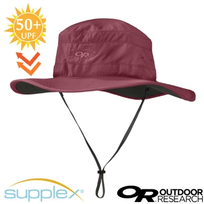 Outdoor Research Solar Roller Sun Hat 超輕防曬抗UV透氣可調可收折中盤帽子(UPF 50+).圓盤帽_紅