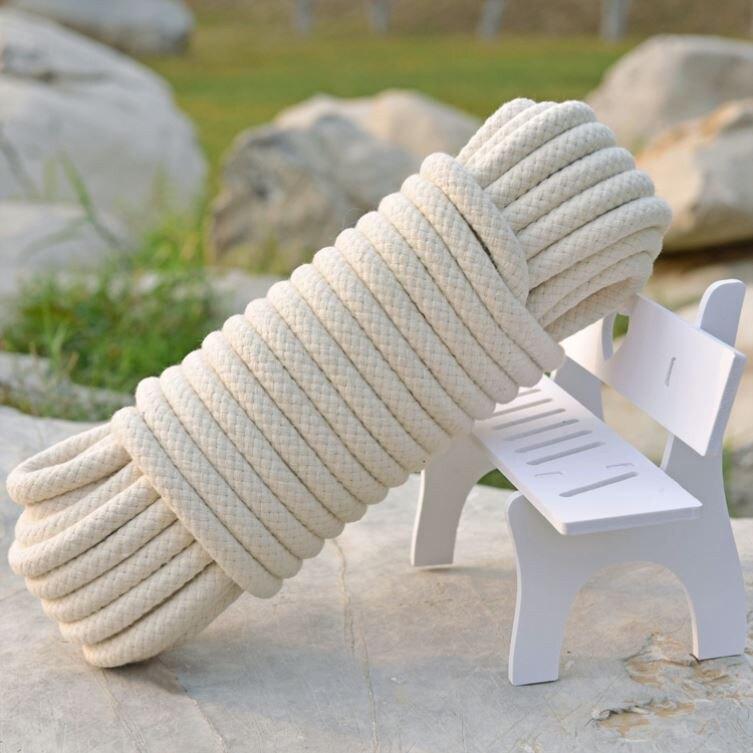 【快速出貨】麻繩 繩拉綁貨繩打包清糞機用繩麻繩繩子耐磨亞棉線麻繩廣告2021繩捆綁 尚品衣櫥