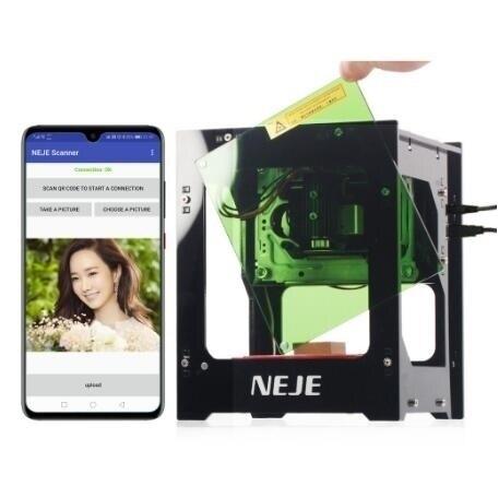 【現貨秒殺】NEJE雷捷小型微型激光雕刻機打標機diy便攜電腦刻字機桌面相印機