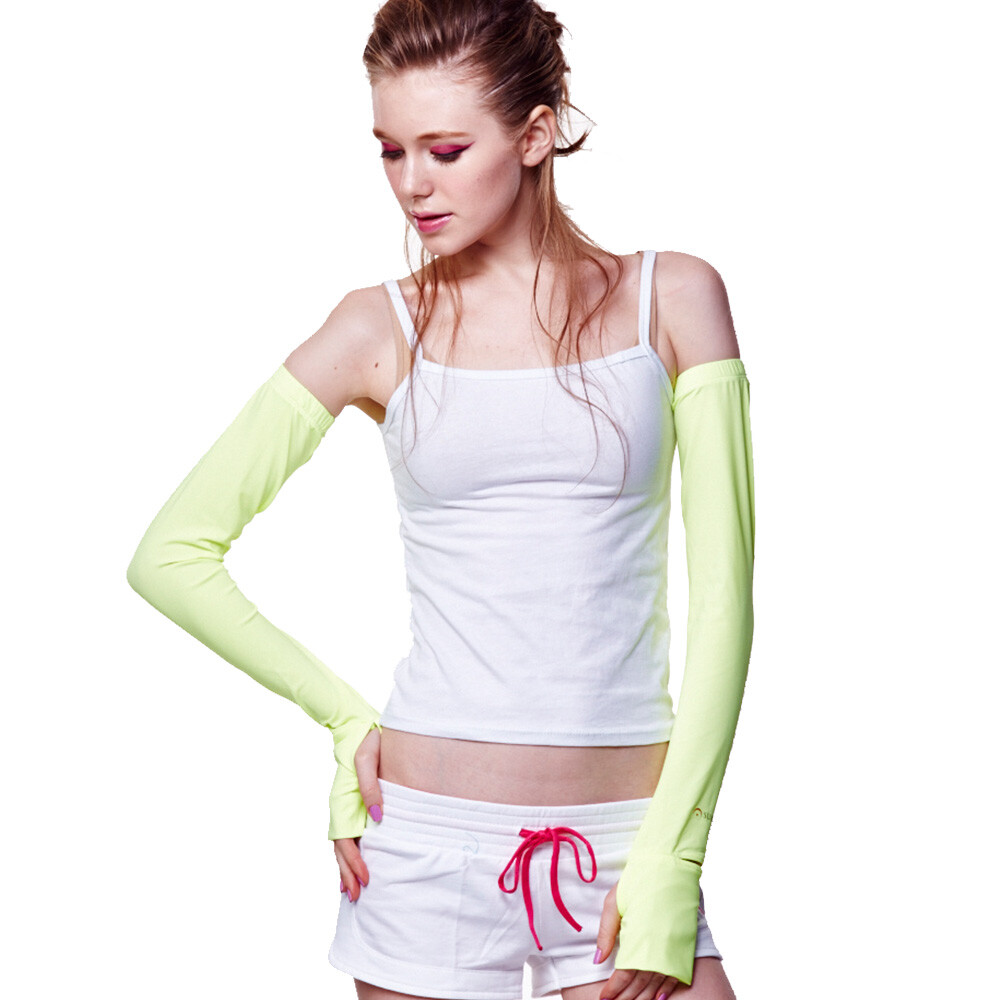(防曬新時尚)先進光學美療布機能光療袖套-黃色紅色任選