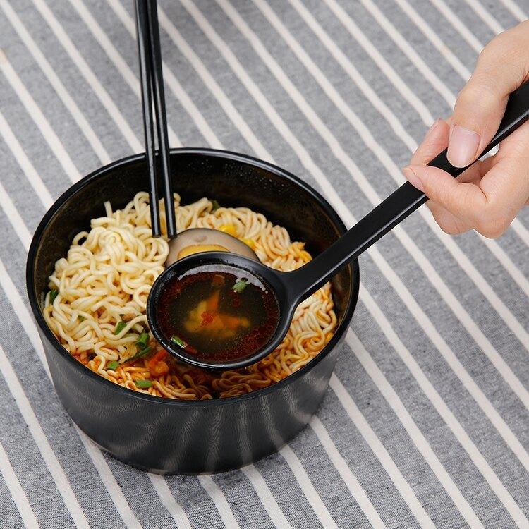限時下殺-泡面碗帶蓋大號學生碗湯碗日式餐具創意飯盒泡面杯方便面碗筷套裝
