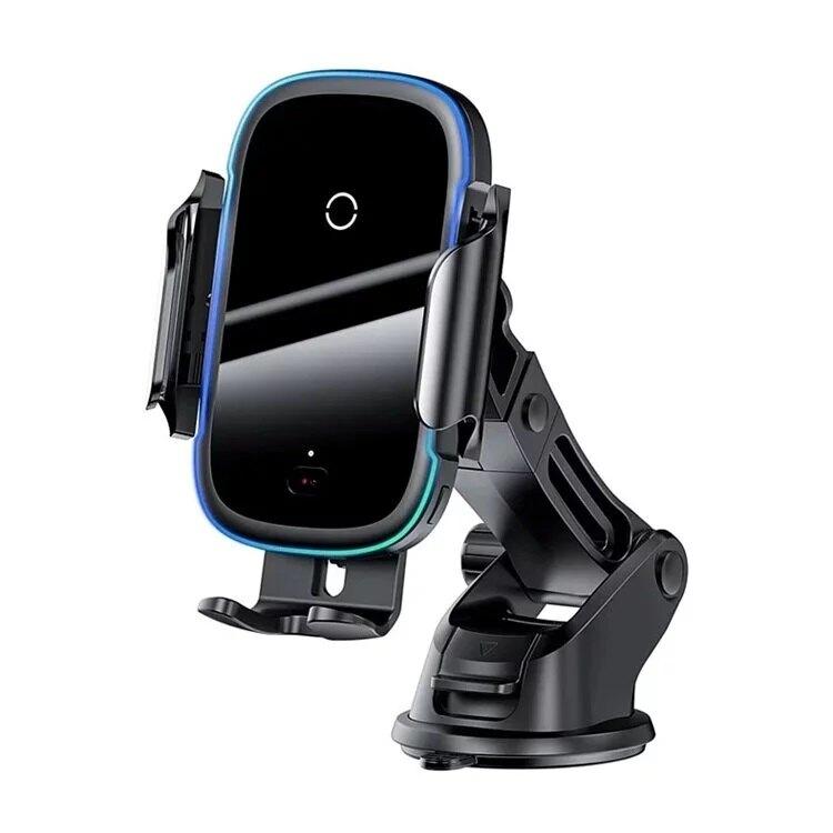 【Baseus 倍思】光線電動支架無線充(15W)|手機支架 無線充電 導航 車用