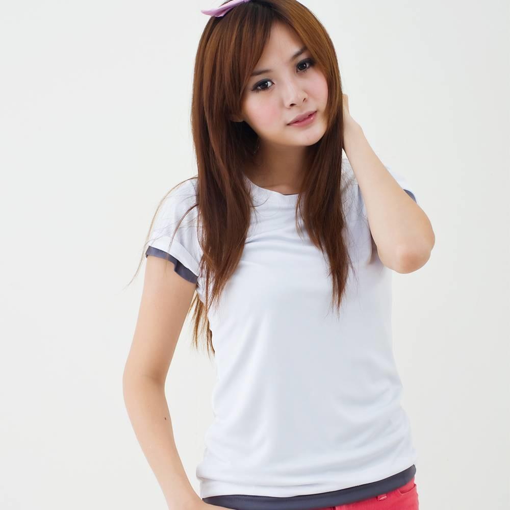 女款3m吸濕排汗t恤 素面t恤 白色