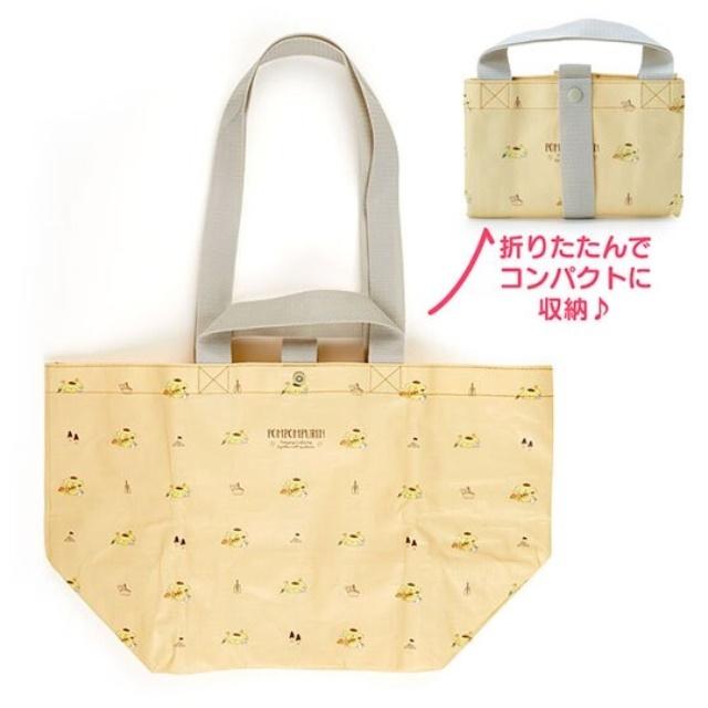 布丁狗 船形扣式防水購物袋 環保購物袋 防水側背袋 手提袋