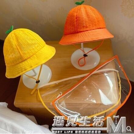 防飛沫帽子夏季薄款夏天寶寶漁夫帽兒童防護罩遮陽防曬太陽帽