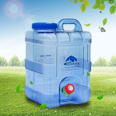 【快速出貨】戶外水桶 方型帶龍頭水箱 塑料容器礦泉水壺儲水桶 尚品衣櫥