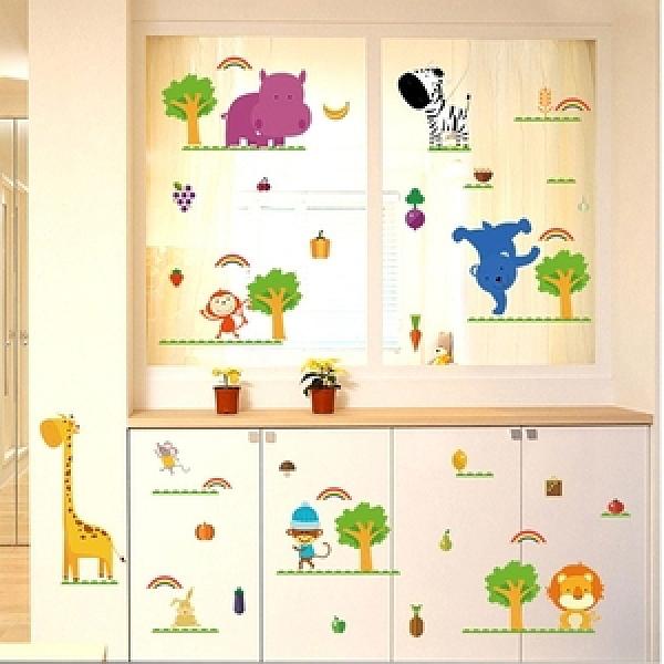【Loviisa 早晨動物】無痕壁貼 壁紙