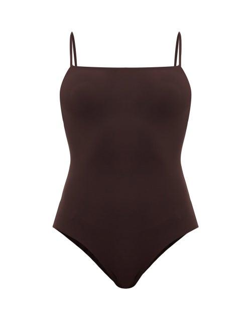 Jil Sander - Square-neck Swimsuit - Womens - Brown