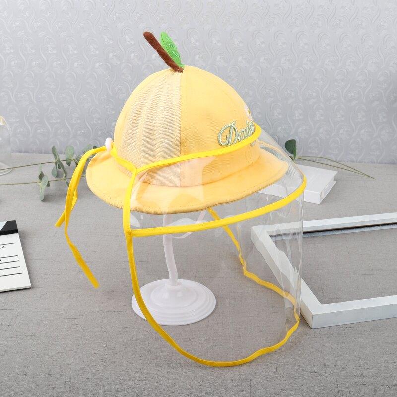 防疫帽/防護面罩 兒童帽子防護面罩TPU透明6防飛沫空頂寶寶防唾沫防疫面罩可調拆卸【XXL7043】