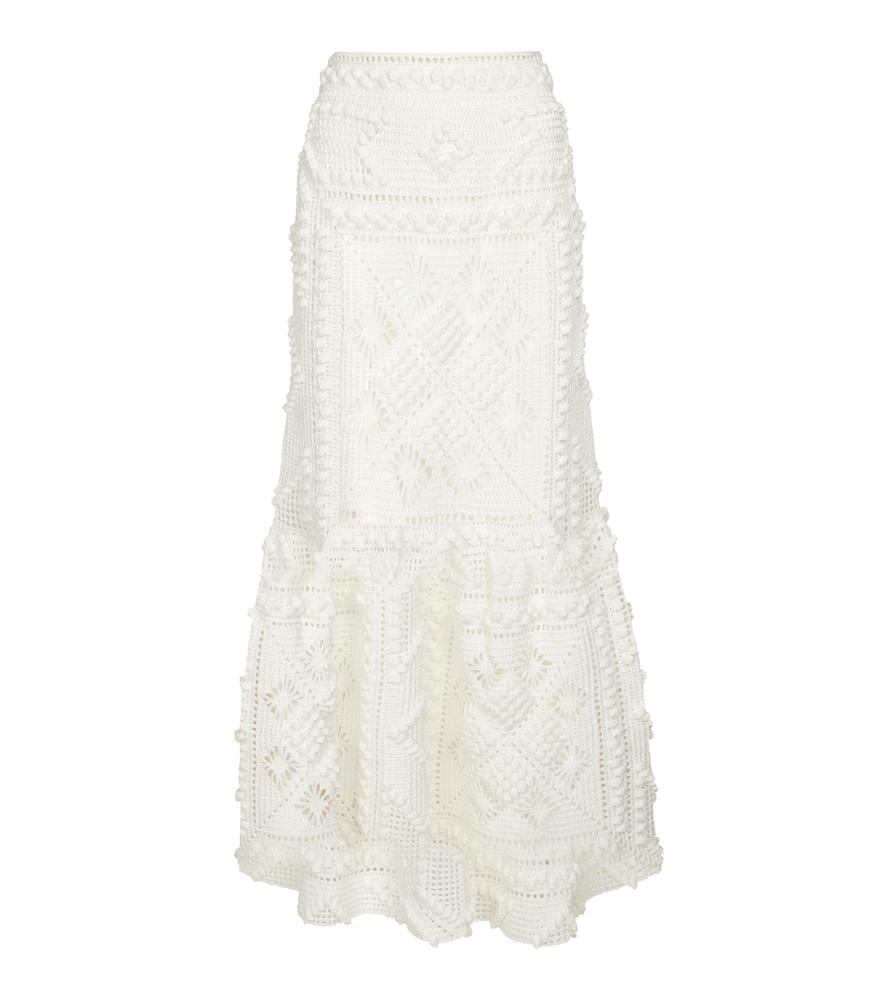 Candescent crochet cotton maxi skirt