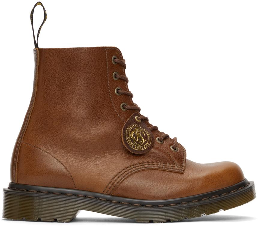 Dr. Martens 棕色 1460 Pascal 英产踝靴