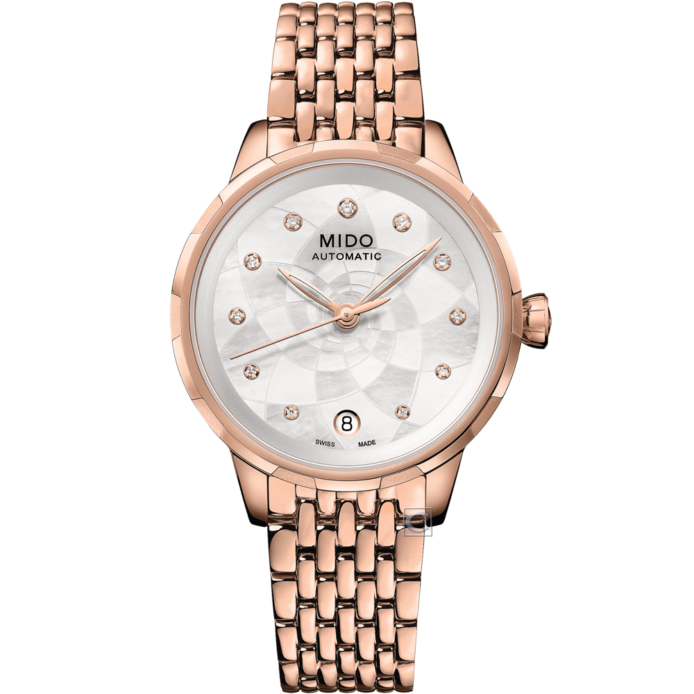MIDO 美度 Rainflower花雨系列雅緻女機械錶(M0432073310600)