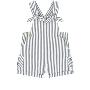 Tartine et Chocolat White Striped Overall Shorts 24 Months
