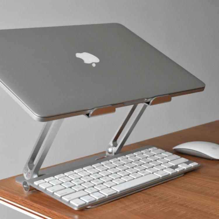 電腦支架 筆記本電腦散熱支架鋁合金抬高支架可折疊便攜可收納支架 快速出貨