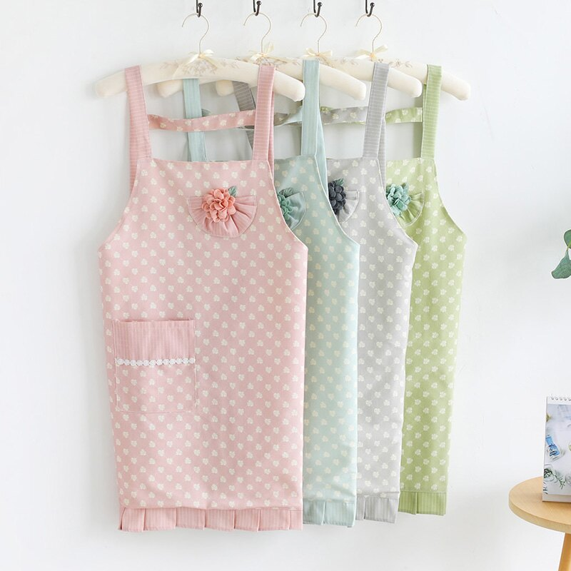 圍裙家用廚房做飯防水防油日系可愛時尚女大人工作肩帶式圍腰