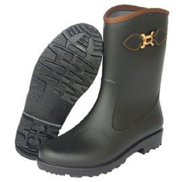 台製一體成型時尚霧面中筒雨鞋雨靴-黑25