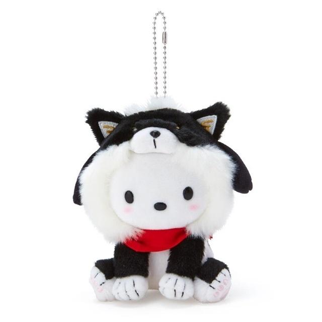 帕恰狗 絨毛吊飾 柴犬吊飾 玩偶吊飾 玩偶鑰匙圈 (黑 )