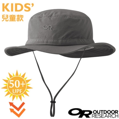 Outdoor Research 兒童款 Helios Sun Hat UPF50+ 抗紫外線透氣防曬大盤帽子.圓盤帽_錫灰