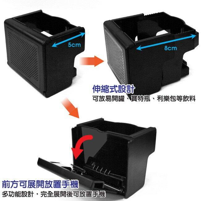YAC 伸縮式手機&飲料架 金屬銀(PF-297) / 金屬黑(PF298)【福利品出清】