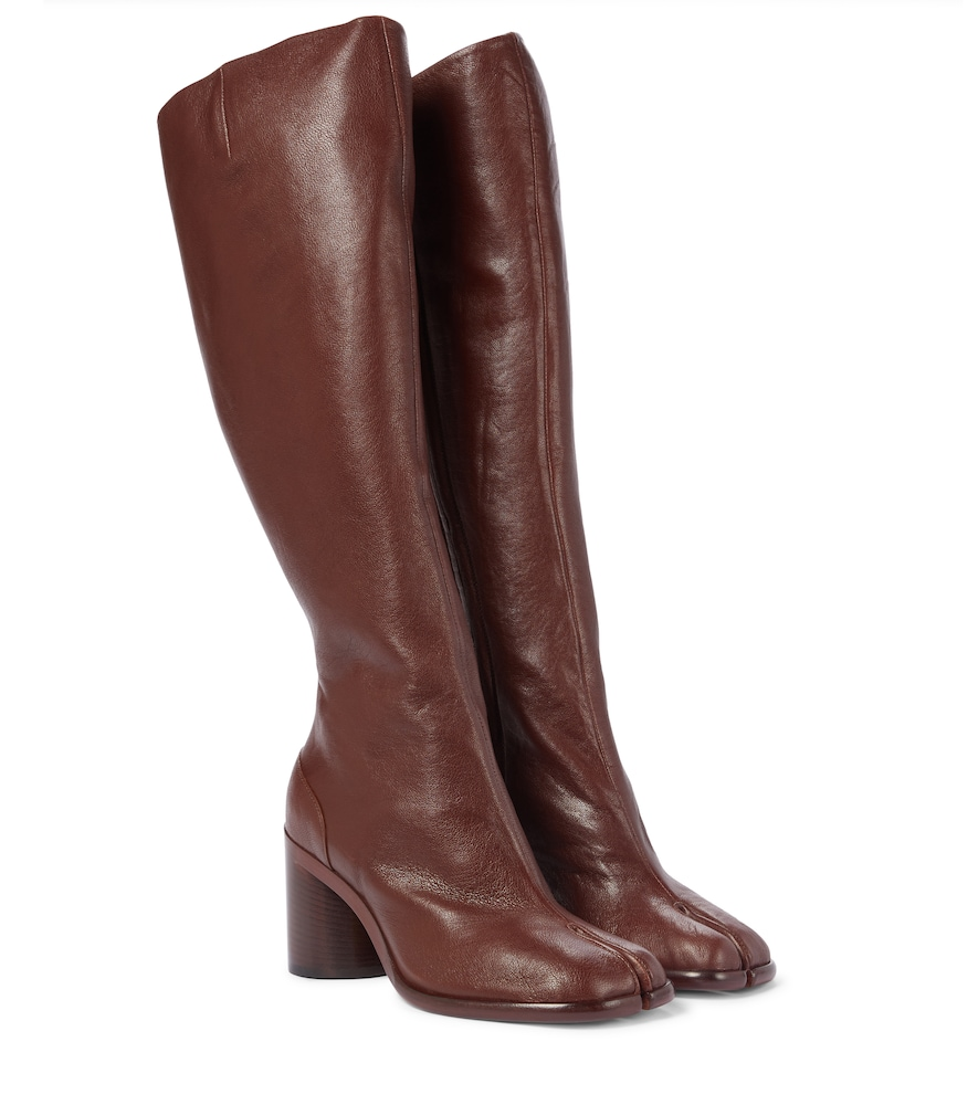 Tabi leather knee-high boots
