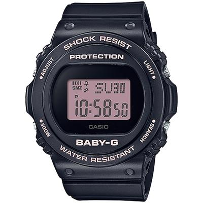 CASIO 卡西歐 BABY-G 人氣經典電子錶-黑/粉 BGD-570-1B