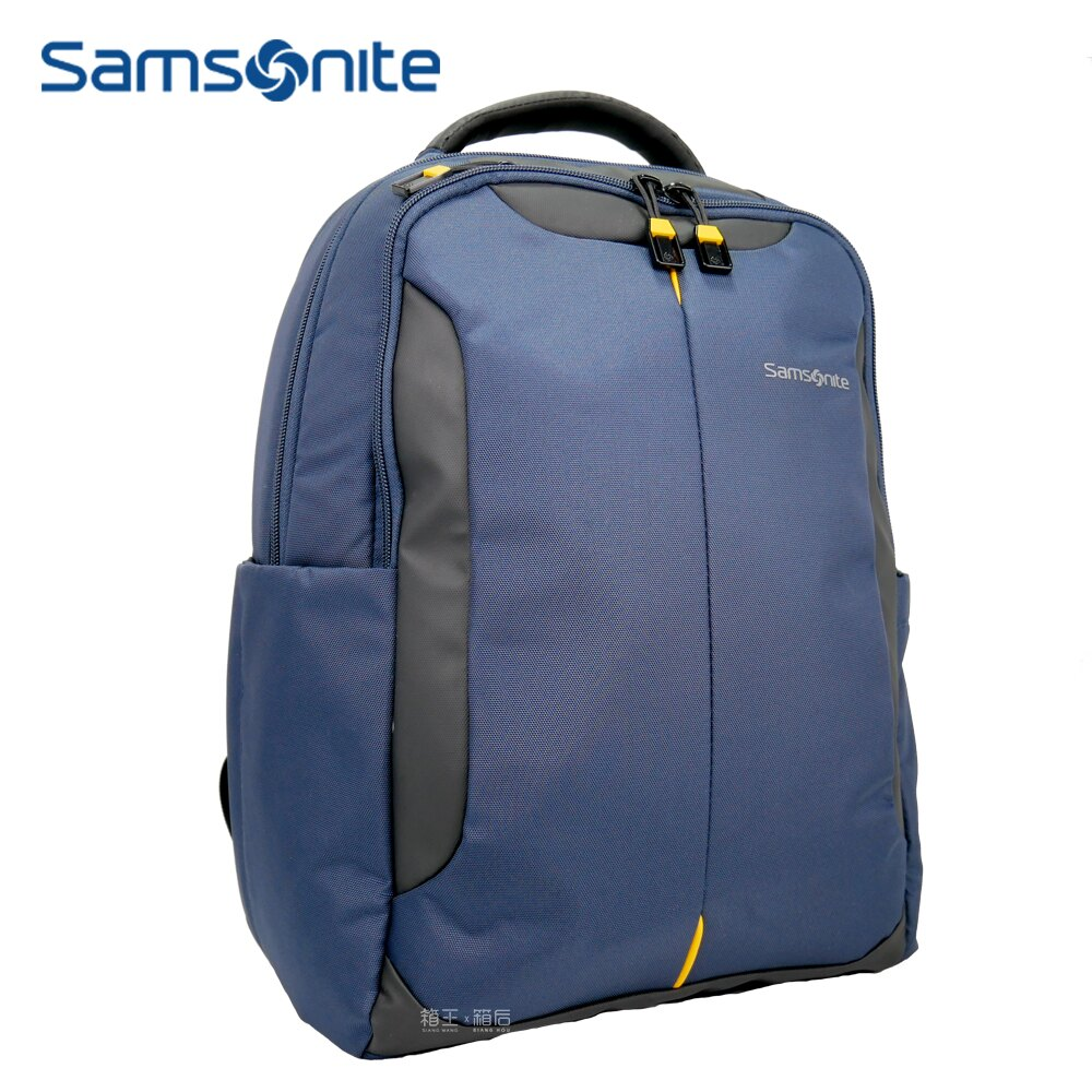 Samsonite 新秀麗 筆電包 可插拉桿後背包 多功能後背包 商務尼龍後背包 Z36*16018 (藍)