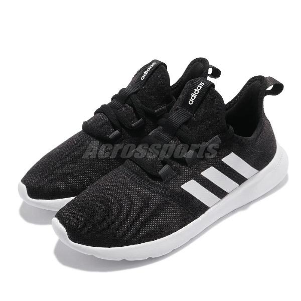 adidas 慢跑鞋 Cloudfoam Pure 2.0 黑 白 愛迪達 女鞋 基本款 【ACS】 H04753