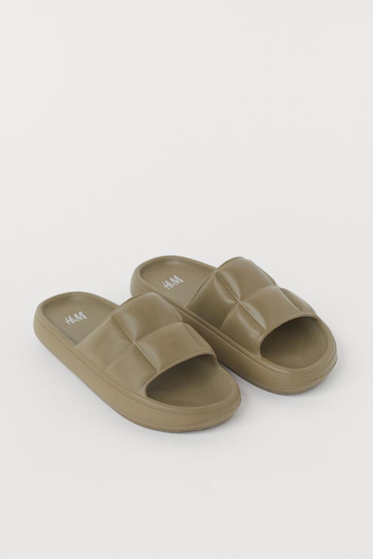 H & M - 鋪棉戲水鞋 - 綠色