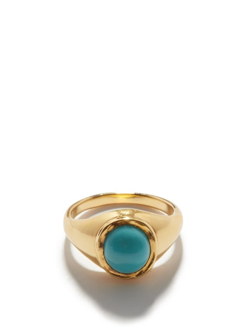 By Alona - Ocean Breeze Turquoise & Gold-plated Ring - Womens - Blue Gold