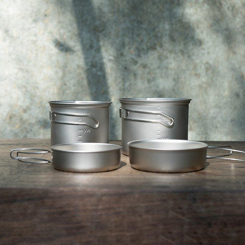 EPIgas 鈦鍋具組T-8001 【2鍋1蓋】