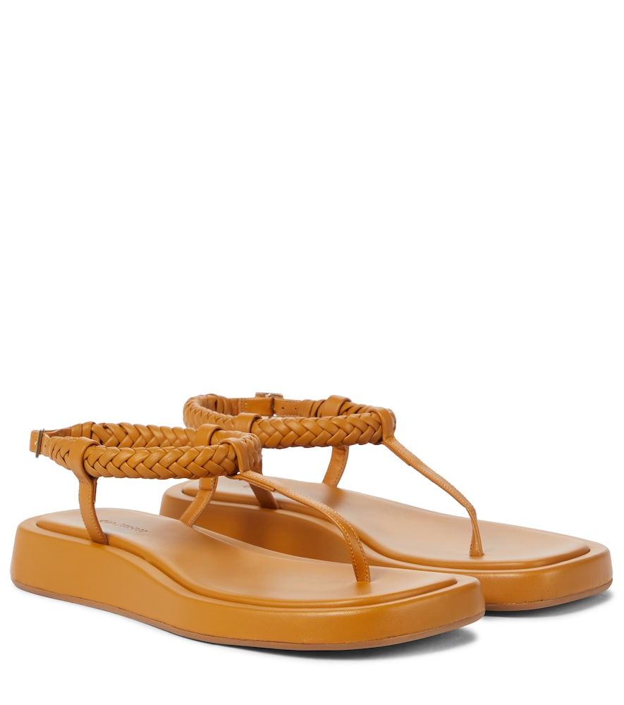 GIA/RHW Rosie 3 leather thong sandals