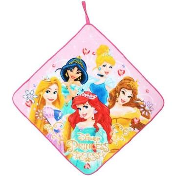迪士尼 公主 可掛式純棉割絨擦手巾《粉黃.禮服》33x33cm.毛巾