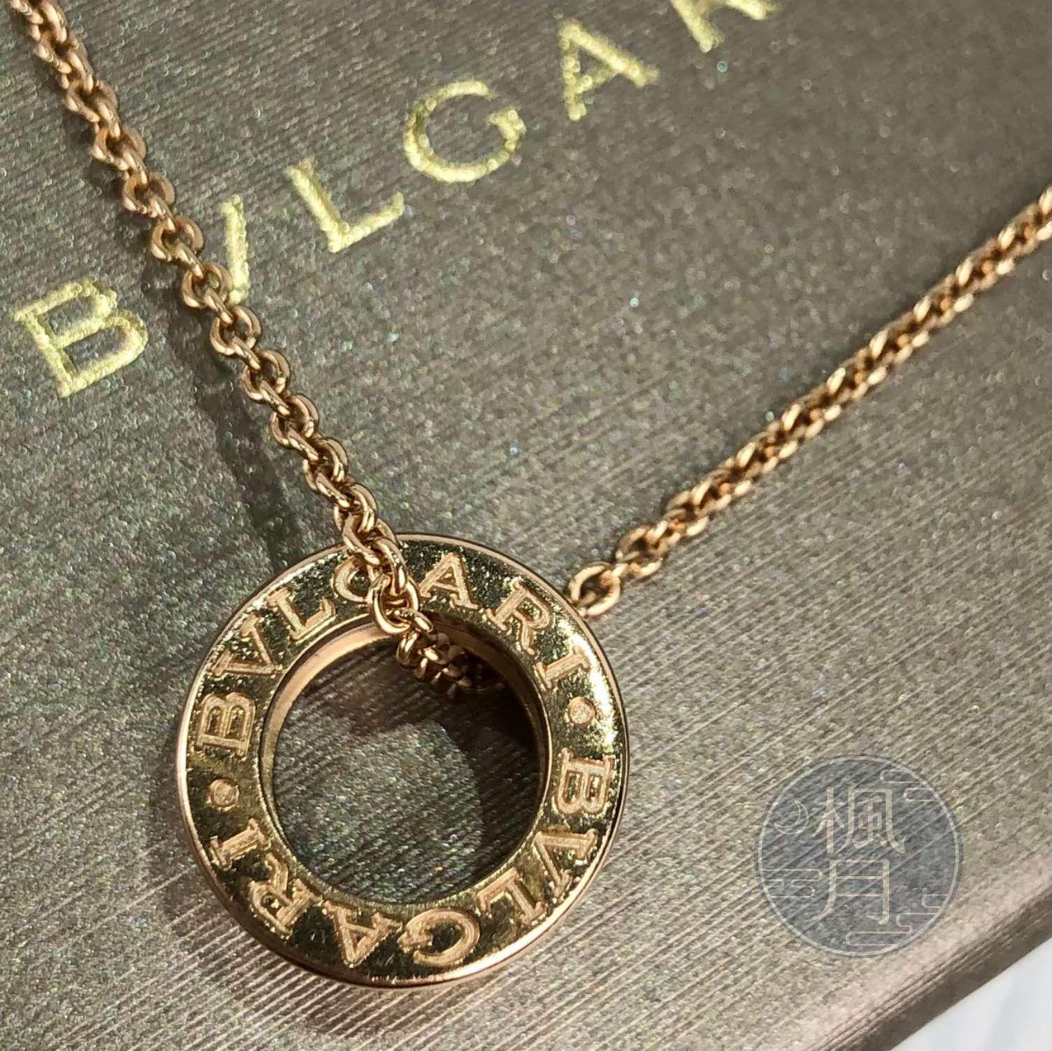 BRAND楓月 BVLGARI 寶格麗 K18 白陶瓷B.ZERO1項鍊 玫瑰金 墜鍊 綴飾 配飾 配件 飾品 飾物