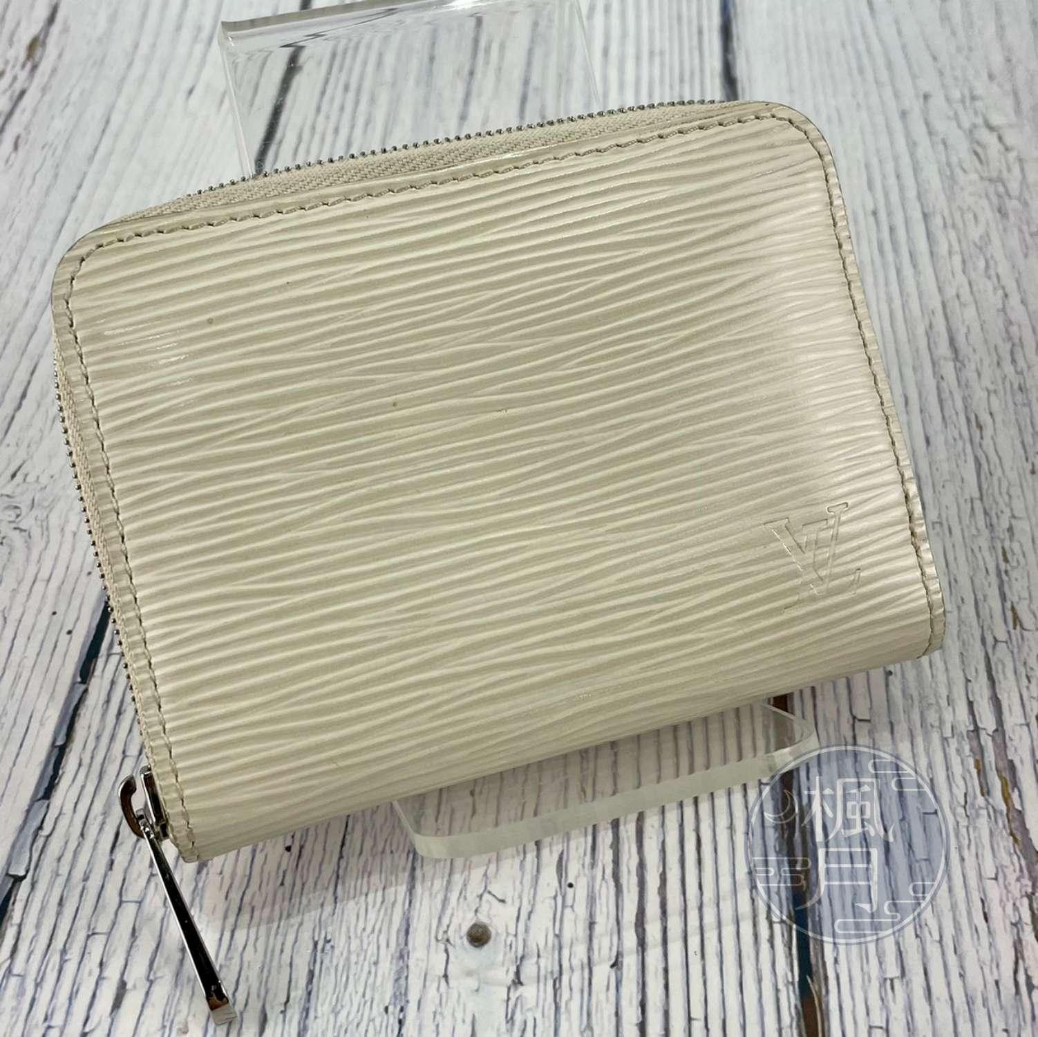 BRAND楓月 LOUIS VUITTON LV 路易威登 M6015J 白EPI拉鍊零錢包 錢包 皮夾 錢夾 短夾