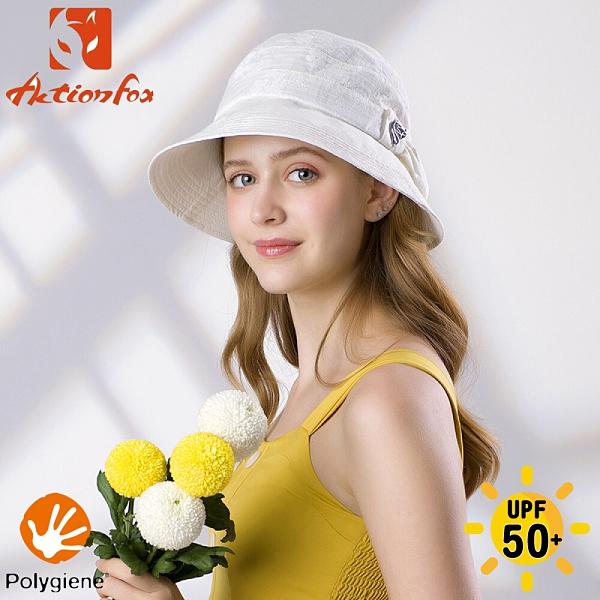 【ActionFox 挪威 女 抗UV抗菌素雅遮陽帽《米白》】630-5280/漁夫帽/防曬帽/休閒帽