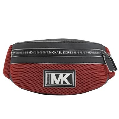 MICHAEL KORS COOPER 透氣材質拼接腰包/胸口包(紅/黑)
