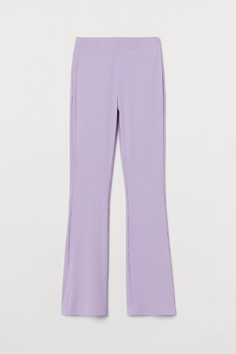 H & M - 羅紋爵士褲 - 紫色