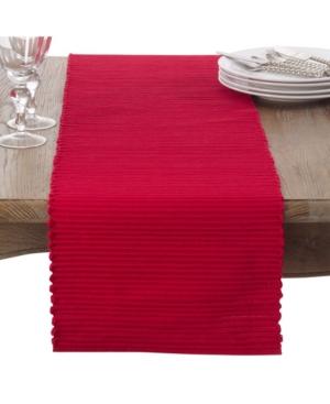 Saro Lifestyle Cotton Mattor Ribbed Table Runner