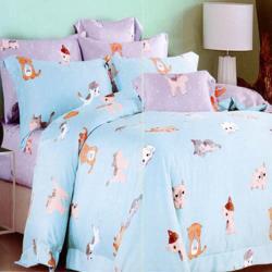 任-【杰克蘭】咪咪與我 加大頂級100%嫩柔萊賽爾天絲兩用被床包組-獨立筒適用