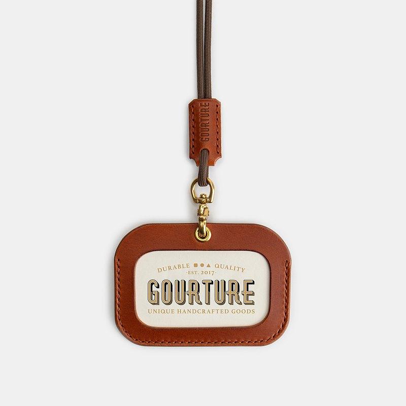 GOURTURE - 橫式證件套 / 識別證套【琥珀棕】