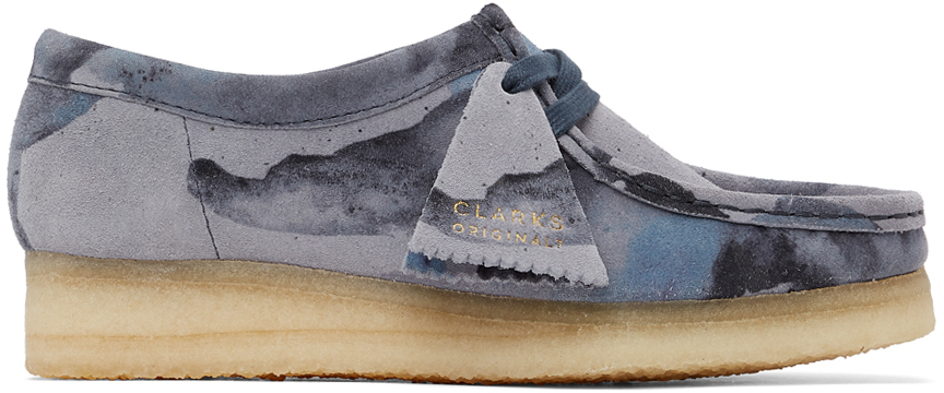 Clarks Originals 蓝色 Wallabee 迷彩莫卡辛鞋
