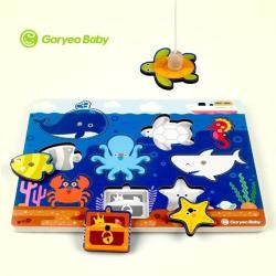 【GoryeoBaby】海洋釣魚拼板(益智遊戲、益智拼圖、玩具)