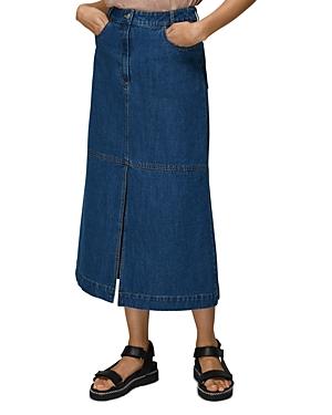 Whistles Denim Midi Skirt