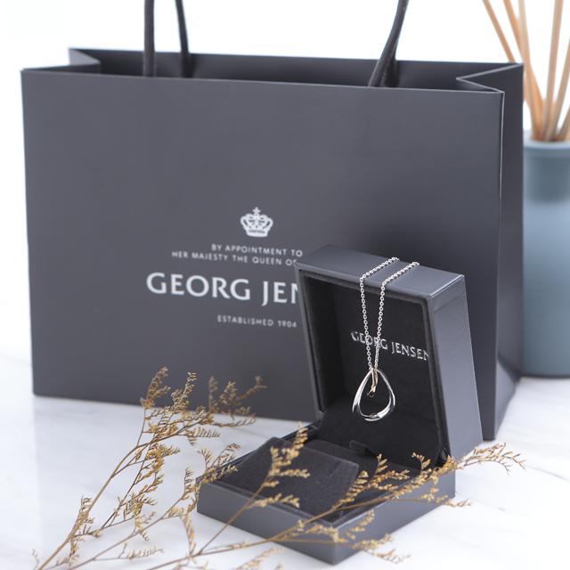Georg Jensen 喬治傑生 OFFSPRING 純銀 18K玫瑰金 鍊墜 項鍊 10012763