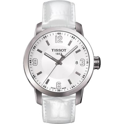 TISSOT PRC200 系列都會石英腕錶-白/39mm T0554101601700