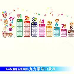 任-【Lisan】創意生活系列九九乘法口訣表 大尺寸高級創意壁貼 B-064