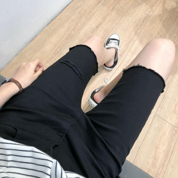 【missy shop】自在行動五分牛仔褲-907009-6917244