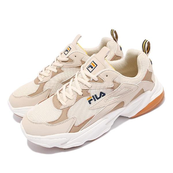 Fila 老爹鞋 J301V 男鞋 奶茶色 膠底 增高 厚底 復古 休閒 運動鞋 斐樂【ACS】 1J301V770
