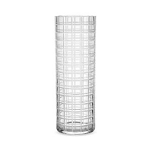 Orrefors Cut In Number Checker Vase, Large
