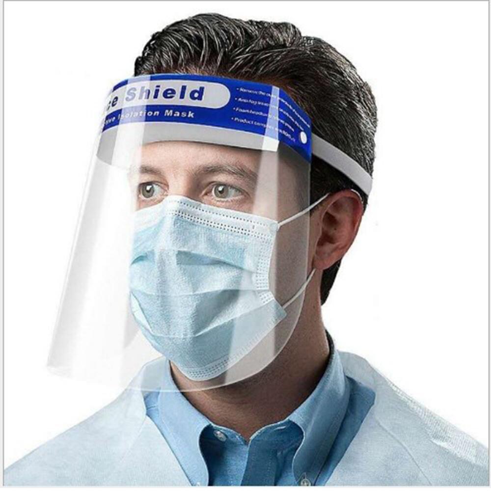 防疫神器免組裝防疫防飛沫噴濺防護海棉面罩 (10入組)